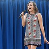 Lynzee Hagen sings during the senior division of the talent show Friday evening at the Effingham County Fair in Altamont. Hagen was named the winner of the senior division.<br /> Chet Piotrowski Jr. photo/Piotrowski Studios