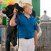 Gage Wendling shows his dairy cow at the Effingam County Fair.<br /> Trent Pearcy photo