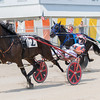 Kyle Husted (left) and his horse, Duneside Life, try to stay ahead of Donald Gibson (right) and his horse, Little Warriorette.<br /> Trent Pearcy photo