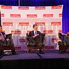 John Downey leads a panel with David Fountain and Lee Mazzocchi at the Energy Inc Summit.