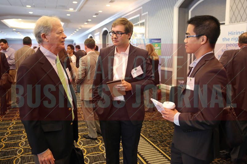 Spencer Nelson of Clearpath Foundation networks at the Energy Inc. Summit.
