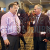 Chris Clippinger talks with Lifetime Achievement Award Winner Robert Johnson at the Energy Inc. Summit.