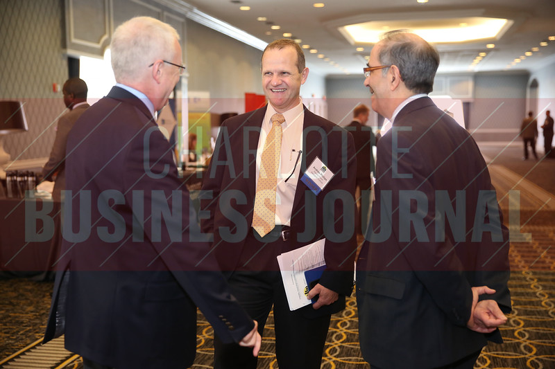 Andrew Phillips of Electric Power Research Institute networks during the Energy Inc. Summit.