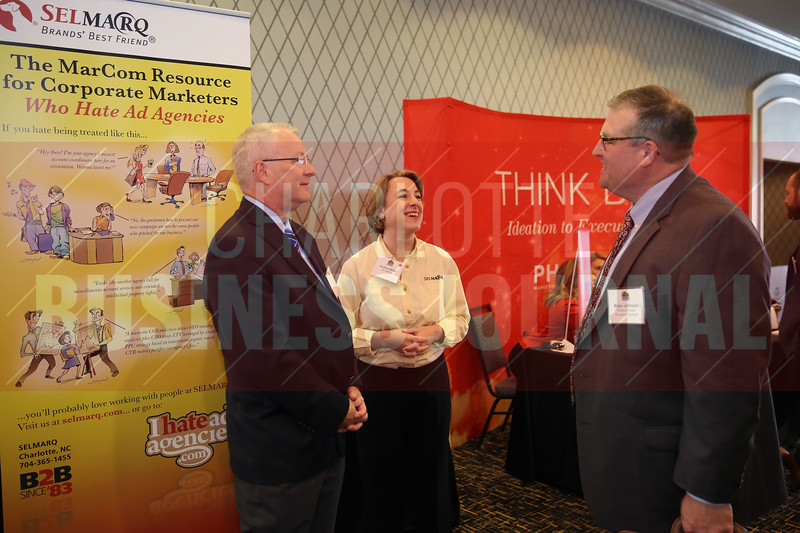Andrea Miller of SELMARQ networks with Brian Johnson of Electric Power Research Institute.