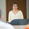 Undergraduate Summer Research Fellowship student presentations during wrap up session at Buffalo State College.