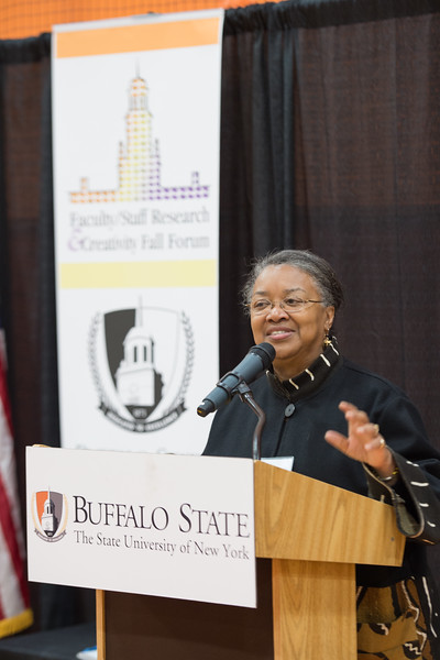 Faculty and Staff Research and Creativity Fall Forum at Buffalo State College.