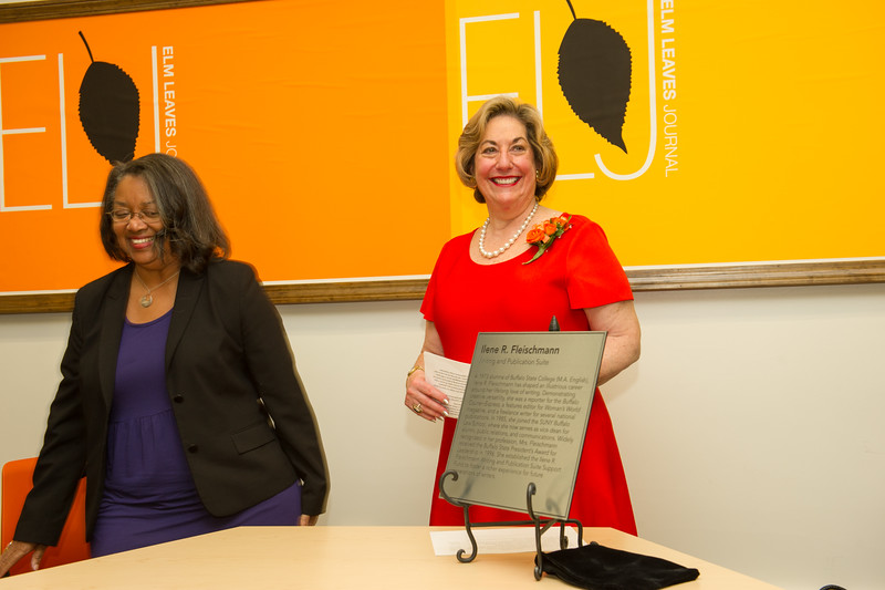 Naming ceremony for Ilene Fleischman Writing and Publication Suite at Buffalo State College.