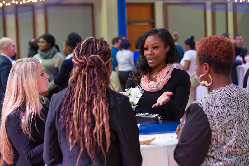 Career Development Center's Casual Connections professional networking etiquette event at Buffalo State College.