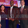 Willie Houston III, CFO, Satori Capital LLC, center, receives his award from Marie Diaz and Mark Galvan of Pursuit of Excellence.