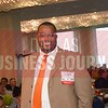 Shawn Scott wallks to the stage to receive his 40 Under 40 award.