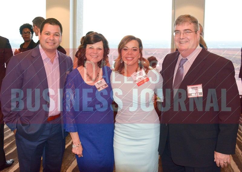 Francisco Sanchez, Marie Dinverno, 40 Under 40 honoree, Rachel Sanchez, David Cegelski.