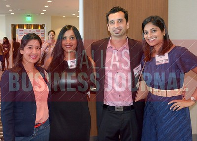 40 Under 40 honoree, Maddy Kulkarni, Rinku Arora, Akash Arora and Geetha Tharper.