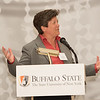 Provost Melanie Perreault speaking at the Research Recognition Reception at Buffalo State College.