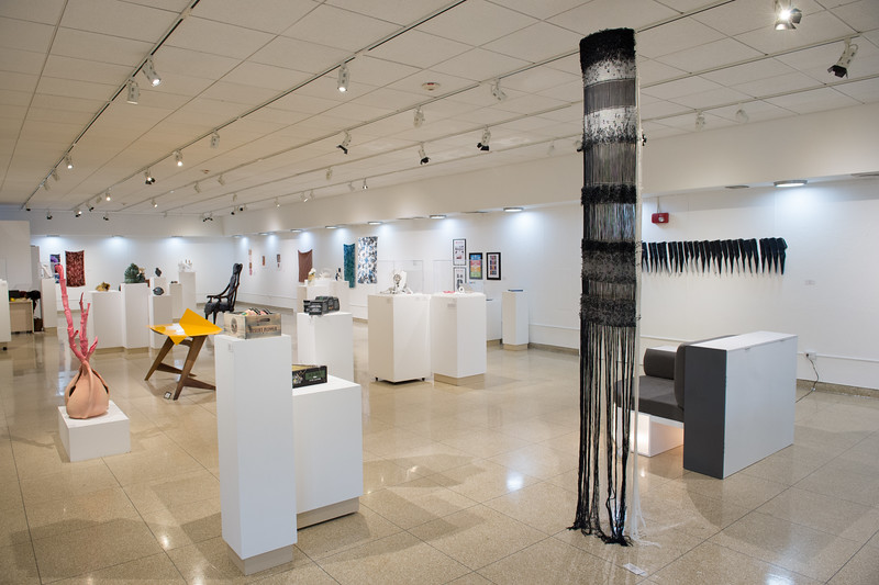 Design student show in the Czurles-Nelson Gallery at Buffalo State College.