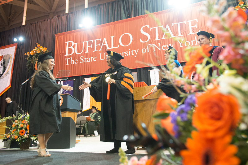Undergraduate Commencement at Buffalo State College.