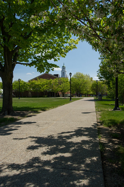 Spring campus scenes at Buffalo State College.