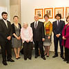 International student scholarship awardees meeting with President Katherine Conway-Turner at Buffalo State College.