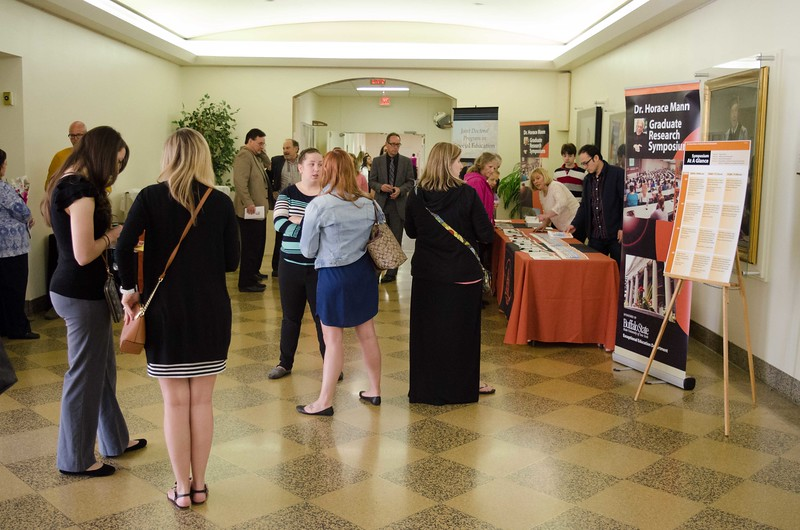 Dr.Horace Mann Graduate Research Symposium held in Rockwell Hall.