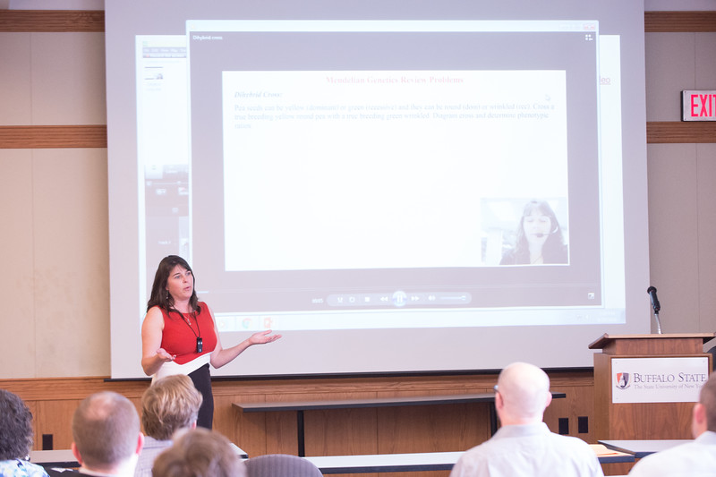 Fostering Innovation in Teaching with Technology (FITT) Academy presentations at Buffalo State College.