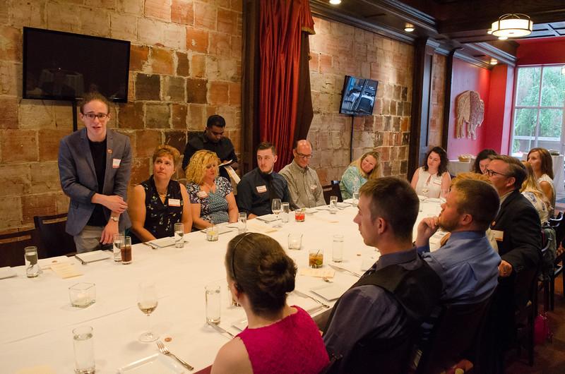 A dinner celebrating the Lamendola scholarship awardees.