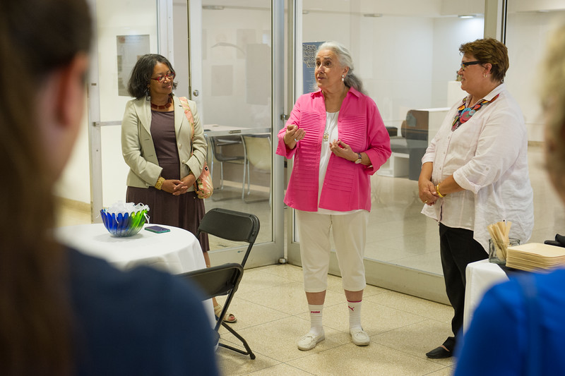 Barbara Nelson's birthday celebration at the Czurles-Nelson Gallery at Buffalo State College.