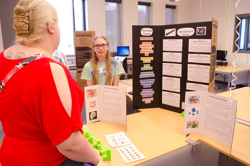 CS4HS (Computer Science for High School) Student Project Showcase held at Buffalo State.