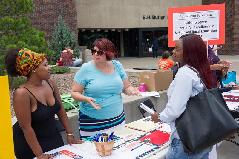 Career Development Center Job Fair Luau at Buffalo State College.