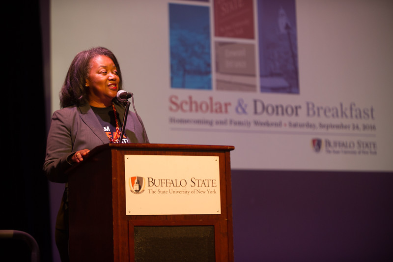 Scholar Donor Breakfast at Buffalo State College.