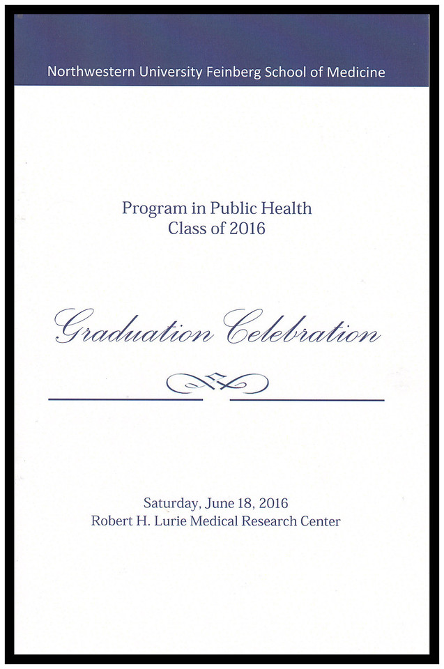 Program in Public Health 2016 Graduation Celebration, June 18, 2016