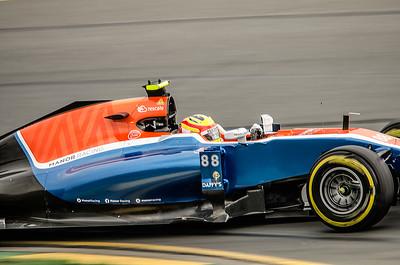 Rio Haryanto, number 88, 2016 Australian F1 Grand Prix