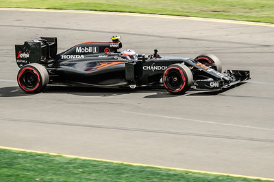 Jenson Button, number 22, 2016 Australian F1 Grand Prix