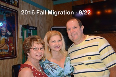 2016  FALL MIGRATION  9/22  -9/23