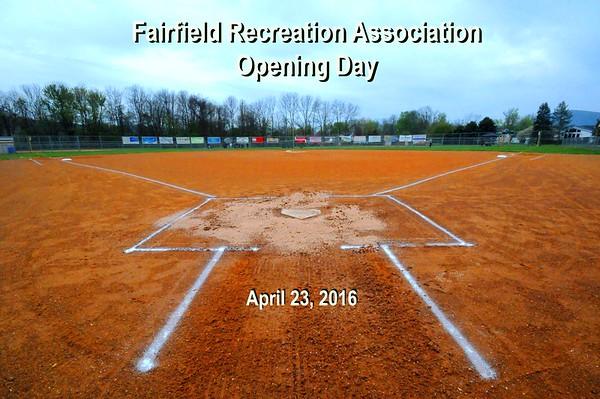 2016 Fairfield Baseball Opening
