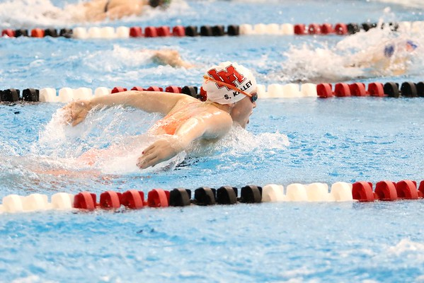 Linn-Mar at Girls Swimming Regional Sate Qualifier Meet at Linn-Mar 10/29/16
