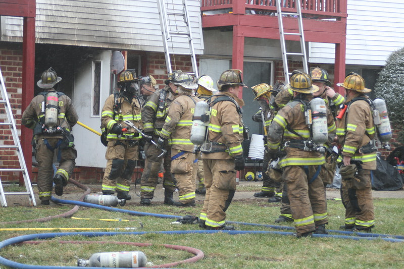 2-9-2015(Gloucester County) DEPTFORD - 1060 Delsea Drive - Chestnut Lane Apartments - 2nd Alarm Building Fire