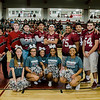 Senior football players, cheerleaders and band members gather during Fitchburg High's annual Thanksgiving pep rally on Wednesday morning. SENTINEL & ENTERPRISE / Ashley Green