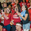 Seniors get pumped during Fitchburg High's annual Thanksgiving pep rally on Wednesday morning. SENTINEL & ENTERPRISE / Ashley Green