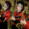 The marching band performs during Wednesday morning's annual Thanksgiving pep rally at Fitchburg High. SENTINEL & ENTERPRISE / Ashley Green
