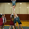 Cheerleaders perform during Wednesday morning's annual Thanksgiving pep rally at Fitchburg High. SENTINEL & ENTERPRISE / Ashley Green