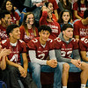 Football players listen in during Fitchburg High's annual Thanksgiving pep rally on Wednesday morning. SENTINEL & ENTERPRISE / Ashley Green