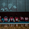 Senior football players watch a video reel during Fitchburg High's annual Thanksgiving pep rally on Wednesday morning. SENTINEL & ENTERPRISE / Ashley Green