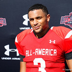 Cedar Hill High School quarterback Avery Davis and some of the nations best high school football players practice and run drills during the first day of practice for the 2016 Under Armour All-America High School Football Game at the ESPN Wide World of Sports in Orlando, Florida  December 38th, 2016. Gator Country photo by David Bowie.