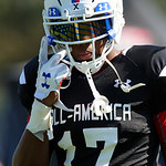 Team Highlight linebacker Levi Jones and some of the nations best high school football players practice and run drills during the first day of practice for the 2016 Under Armour All-America High School Football Game at the ESPN Wide World of Sports in Orlando, Florida  December 38th, 2016. Gator Country photo by David Bowie.