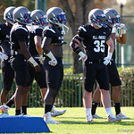 Pittsburgh Central Catholic HS linebacker David Adams and some of the nations best high school football players practice and run drills during the first day of practice for the 2016 Under Armour All-America High School Football Game at the ESPN Wide World of Sports in Orlando, Florida  December 38th, 2016. Gator Country photo by David Bowie.