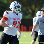 Cy Fair High School tight end Brock Wright and some of the nations best high school football players practice and run drills during the first day of practice for the 2016 Under Armour All-America High School Football Game at the ESPN Wide World of Sports in Orlando, Florida  December 38th, 2016. Gator Country photo by David Bowie.