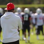 Team Highlight coach Deion Sanders coaches up some of the nations best high school football players practice and run drills during the first day of practice for the 2016 Under Armour All-America High School Football Game at the ESPN Wide World of Sports in Orlando, Florida  December 38th, 2016. Gator Country photo by David Bowie.