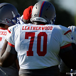 Booker T. Washington HS offensive tackle Alex Leatherwood and some of the nations best high school football players practice and run drills during the first day of practice for the 2016 Under Armour All-America High School Football Game at the ESPN Wide World of Sports in Orlando, Florida  December 38th, 2016. Gator Country photo by David Bowie.