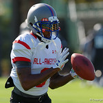 Tampa Bay Tech Senior High School wide receiver DaQuon Green and some of the nations best high school football players practice and run drills during the first day of practice for the 2016 Under Armour All-America High School Football Game at the ESPN Wide World of Sports in Orlando, Florida  December 38th, 2016. Gator Country photo by David Bowie.