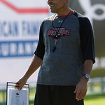 Team Armour Head Coach Herm Edwards coaches up some of the nations best high school football players practice and run drills during the first day of practice for the 2016 Under Armour All-America High School Football Game at the ESPN Wide World of Sports in Orlando, Florida  December 38th, 2016. Gator Country photo by David Bowie.