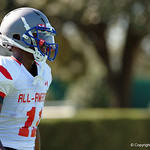 Mansfield High School wide receiver Saiid Adelio and some of the nations best high school football players practice and run drills during the first day of practice for the 2016 Under Armour All-America High School Football Game at the ESPN Wide World of Sports in Orlando, Florida  December 38th, 2016. Gator Country photo by David Bowie.